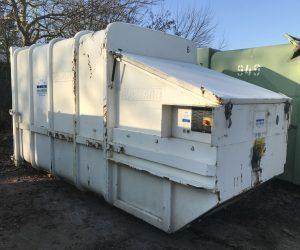 Mobile Abfallpresse 12 m³ für Absetzkipper