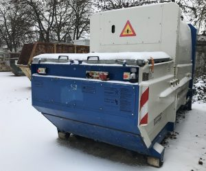 Mobile Abfallpresse mit 10 m³ Nutzinhalt für Absetzkipper, Geräte-Nr. 16912