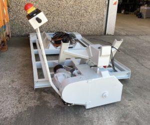 Elektrischer Fahrwagen mit Kettenantrieb für Absetzkippersysteme